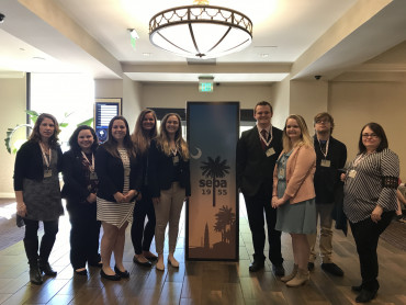 Students present their research at the 2018 annual meeting of the Southeastern Psychological Asso...