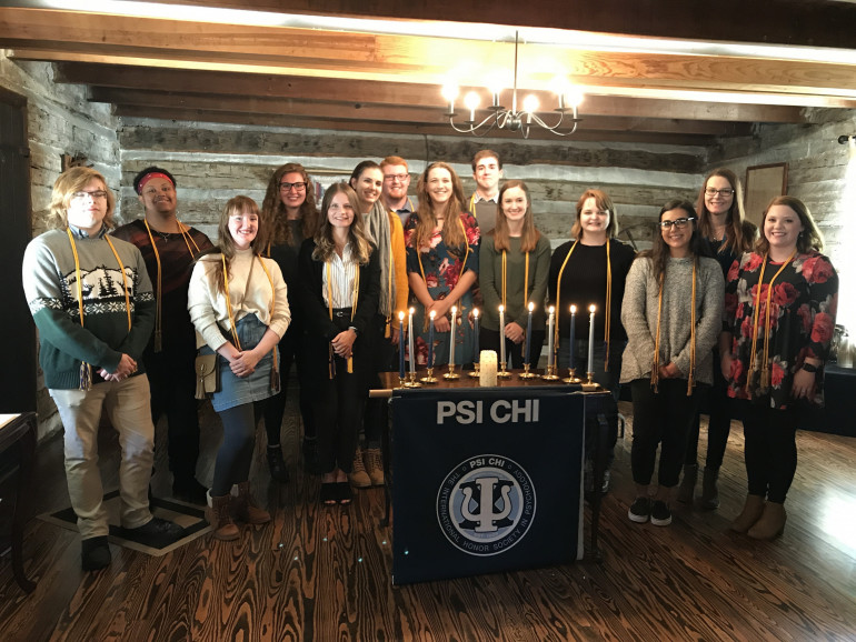 Psi Chi International Honor Society New Member Induction Fall 2018
