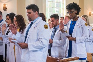 DPT Students take oath during White Coat Ceremony