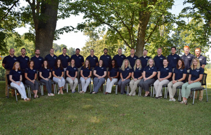 Physical Therapy Class picture by tree