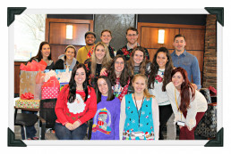 Class of 2020 Students Participating in Ugly Sweater Day and Present Swap - Winter 2017