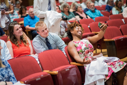 Class of 2020 Students Enjoying Themselves at the MPAS Program White Coat Ceremony (they won't be...