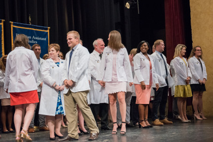 E&H MPAS Class of 2020 Donning Their White Coats - White Coat Ceremony, May 2018