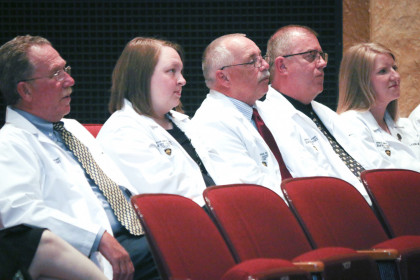 MPAS Program Faculty and Staff at the Inaugural White Coat Ceremony (Class of 2019), held at the ...