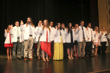 Pictures from the E&H MPAS Program Inaugural White Coat Ceremony (Class of 2019), held at the...