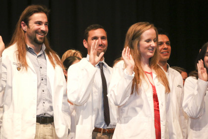 E&H MPAS Program Class of 2019 Students taking the PA Student Oath at the Inaugural White Coa...