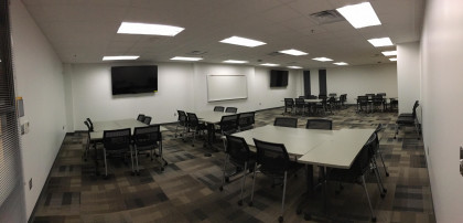 One of our classrooms set up for team-based learning (TBL). The MPAS program is set up as a TBL p...