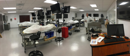 SHS Cadaver Anatomy Lab. The MPAS Students are the only students participating in the cadaver lab...