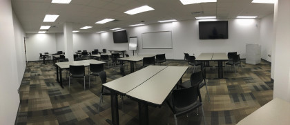 Another one of our classrooms set up for team-based learning (TBL). The MPAS program is set up as...