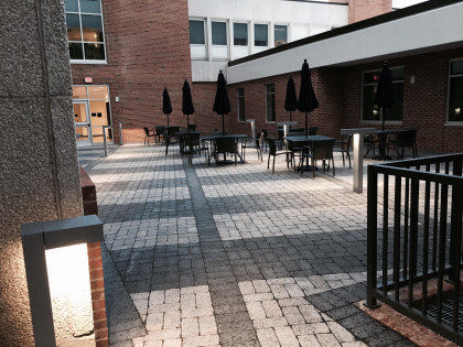 The SHS courtyard - accessible to students whenever the campus open (we occasionally hold classes...