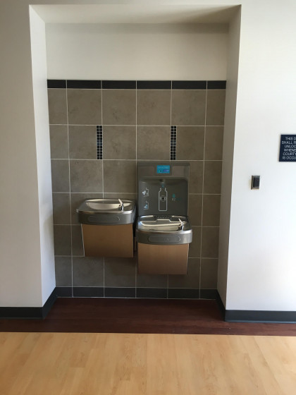 It might not seem like much, but these water fountains are some of our busiest areas - no need fo...