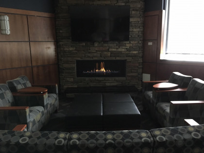 The SHS lobby fireplace!