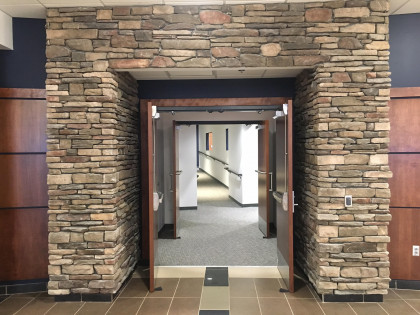 Entrance to our large lecture hall.