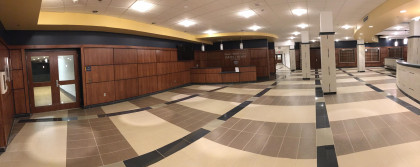 The SHS Building lobby area.
