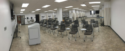 Our MPAS Program Skills Lab. The Lab has 20 exam bays, each fully equipped just as an outpatient ...