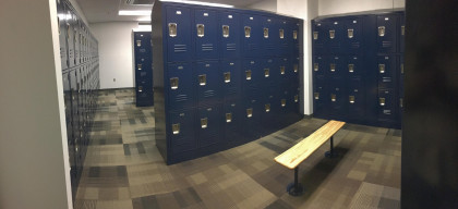 Student locker rooms inside the SHS building - just outside of our main classrooms. The SHS build...
