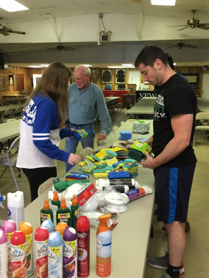 MPAS Class of 2019 students participating in community service: here, students are assisting Prof...