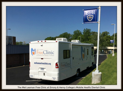 Another shot of the Clinic's mobile unit, used to provide services to patients who reside o...