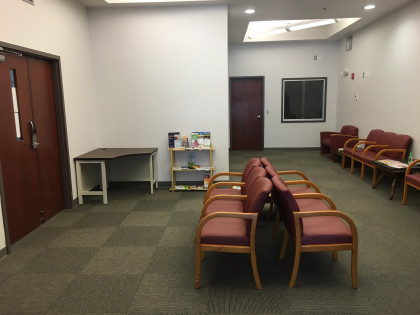 The Clinic's waiting room. The Mel Leaman Free Clinic at Emory & Henry College. The MLF...