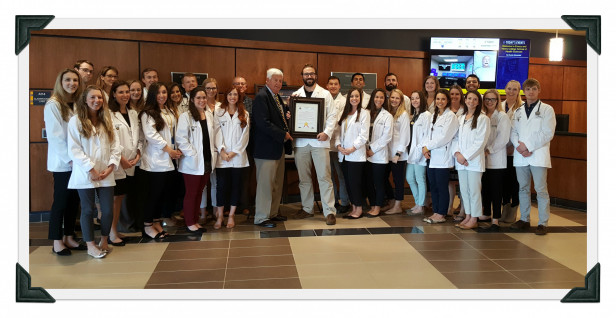 E&H MPAS Class of 2019 Receiving Town of Marion Proclamation Formally Recognizing PA Week, 20...