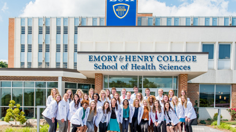 MPAS Program Class of 2020 Pictured in front of the School of Health Sciences Building
