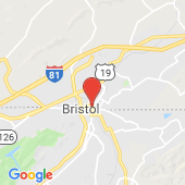 Map of WCYB Bristol