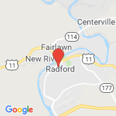 Map of Radford, Virginia