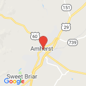 Map of Amherst, VA