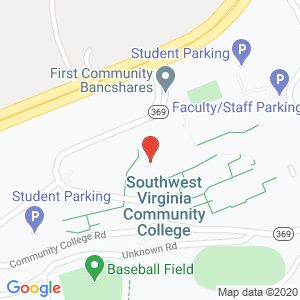 Map of Southwest Virginia Community College