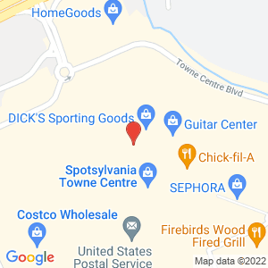 Map of 137 Spotsylvania Mall Dr, Fredericksburg, VA 22407